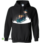 A Snowy Ride Pullover Hoodie