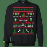 4 Main Food Groups Elf Buddy Christmas Holiday Movie Crewneck Pullover Sweatshirt  8 oz.