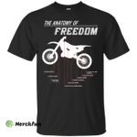Motorcycle T-shirt The Anatomy Of Freedom