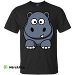 Hippo T-shirt I Love Hippopotamus Zoo Animal Water