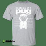 Anatomy of a Pug Funny Tee T-Shirts