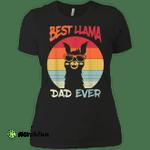 Retro Vintage Best Llama Dad Ever Father's Day Gift Ladies' Boyfriend