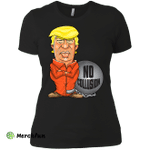 President Trump No Collusion Orange Jumpsuit Cartoon Ladies' Boyfriend