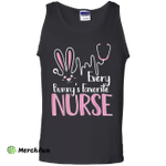 Every bunny's favorite nurse funny easter Tank Top