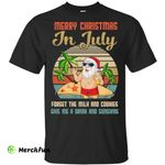 Funny Vintage Retro Santa Merry Christmas In July Gift