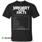 January guy facts servings per container shirt, tank, long sleeve