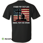 Stand for the Flag, Kneel for the Cross T-shirt Back Side