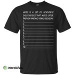 10 Lists Of Scientific Discoveries That Were Proven Wrong By Religion Shirt