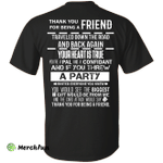 Thank you for being a friend traveled down the road shirt, tank