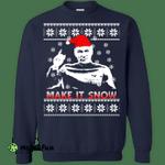 Star Trek Make it Snow Ugly Sweater - Picard Christmas shirt