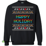 Happy Holiday ugly sweater, hoodie
