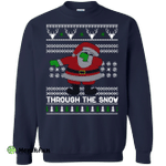 Dabbing Through The Snow Funny Christmas Sweater, T-shirt