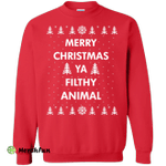 Merry Christmas Ya Filthy Animal Sweater, Shirt, Hoodie