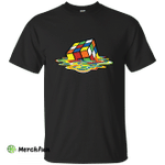 Melting Rubiks Cube shirt: Sheldon Cooper The Big Bang Theory