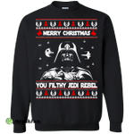 Darth Vader Merry Christmas You Filthy Jedi Rebel ugly Sweater, Shirt
