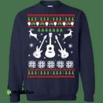 Guitar Christmas Sweater, Hoodie, Long Sleeve
