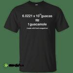 Avogadro 6.0221 10 23 guacas 1 guacamole shirt, tank
