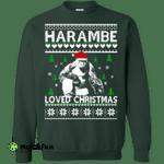 Harambe Loved Christmas Sweater, T-shirt, Hoodie