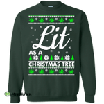 Lit as a Christmas Tree Sweater, Shirt, Hoodie
