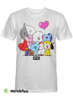 BTS Army BT21 Cute T shirt Mug for Army Love Friends