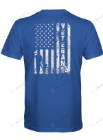 Veteran Flag USA T shirt Back Design