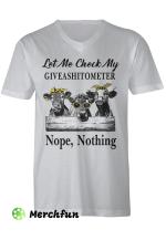 Cow Giveashitometer T shirt