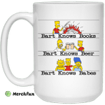 Bart Knows Books Bart Knows Beer Bart Knows Babes The Simpsons Mug