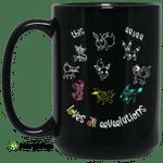 This Eevee Loves All Eeveelutions Pokemon Mug