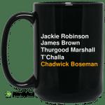 Jackie Robinson James Brown Thurgood Marshall T'Challa Chadwick Boseman Mug