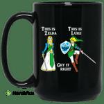 This Is Zelda This Is Luigi Get It Right Mug