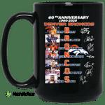 60th Anniversary Denver Broncos 1960 2020 Mug