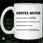 Coffee meter no talking need coffee seriously piss off mug