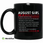 August Girl Facts Is Most Known For Human Lie Detector And The Realist Mug Happy Birthday August Gifts Mug