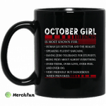 October Girl Facts Is Most Known For Human Lie Detector And The Realist Mug Happy Birthday October Gifts Mug