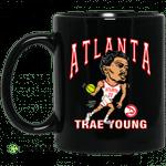 Atlanta Trae Young Hawks Caricature Mug