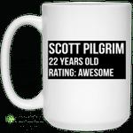 Scott Pilgrim 22 Years Old Rating Awesome Mug