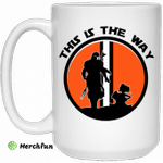 This Is The Way The Mandalorian Silhouette Star Wars Mug