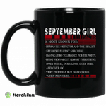 September Girl Facts Is Most Known For Human Lie Detector And The Realist Mug Happy Birthday September Gifts Mug