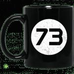 Sheldon Cooper?s 73 Black Mug