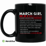 March Girl Facts Is Most Known For Human Lie Detector And The Realist Mug Happy Birthday March Gifts Mug
