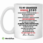 To my Grandson senior 2020 love Grandma mug