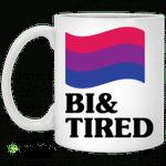 Bisexual flag bi and tired mug