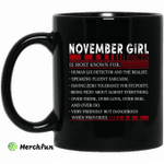 November Girl Facts Is Most Known For Human Lie Detector And The Realist Mug Happy Birthday November Gifts Mug