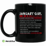January Girl Facts Is Most Known For Human Lie Detector And The Realist Mug Happy Birthday January Gifts Mug