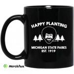 Bob Ross Happy Planting Michigane State Parks DNR Mug