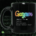 Gaymer Gaymer Noun A Gay One Plays Video Games Mug