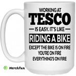 Working At Tesco Is Easy It?s Like Riding A Bike Mug