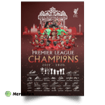 Liverpool Premier League Champions 2019 2020 You'll Never Walk Alone Portrait Poster