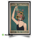 Be Kind To Your Mind Garden Flower Pot Head Poster