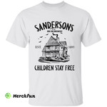 Hocus Pocus Wizard Witch Sanderson House Bed And Breakfast Children Stay Free Halloween T-Shirt